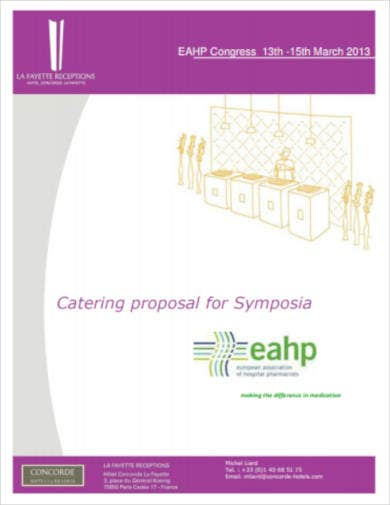 catering proposal example