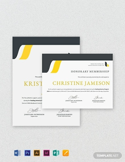 certificate-of-honorary-template
