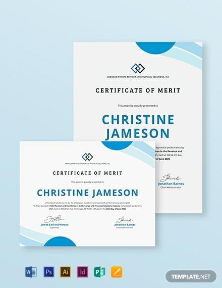 certificate-of-merit-template