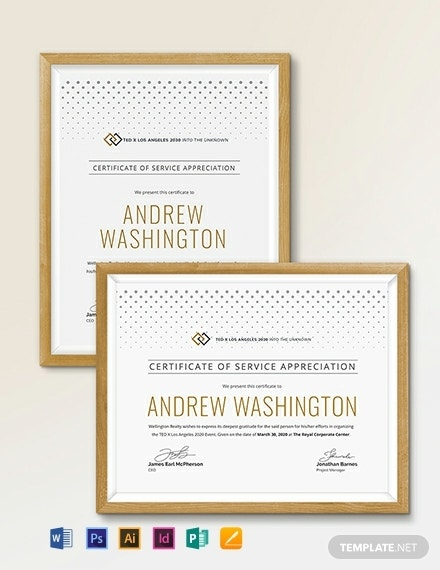 certificate-of-service-template