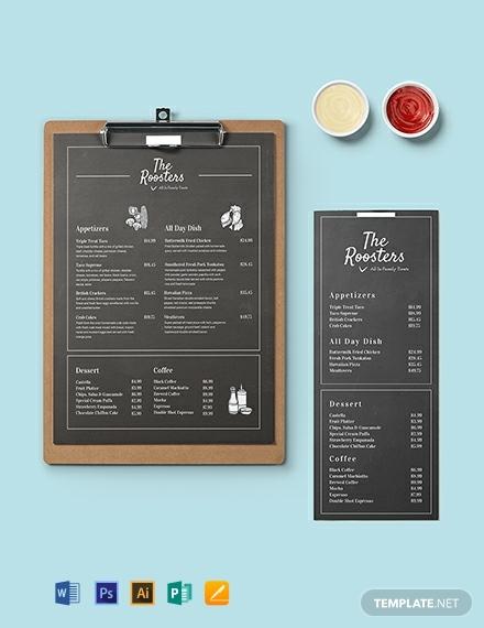 chalkboard-menu-card-template
