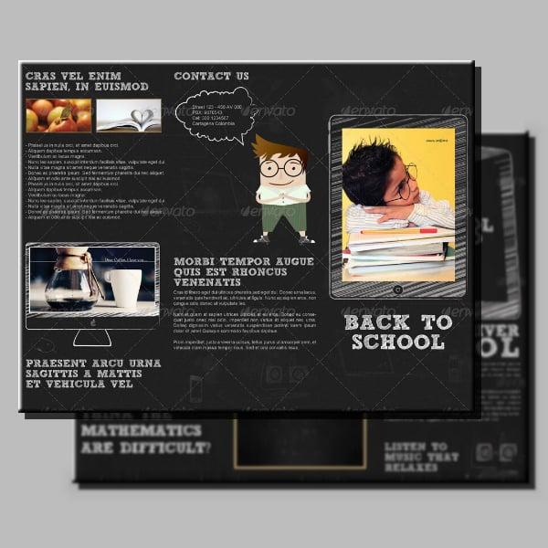 chalkboard school tri fold brochure format