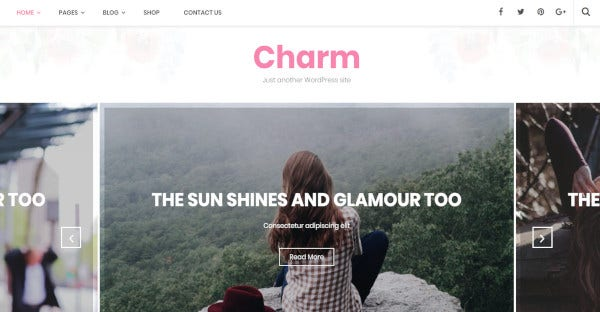 charm – 100 responsive wordpress theme