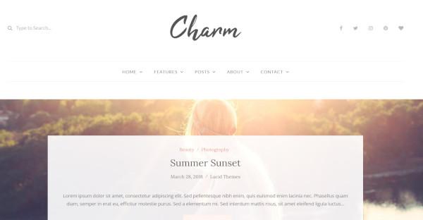 charm widgetized wordpress theme