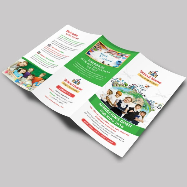 childrens school tri fold brochure sample