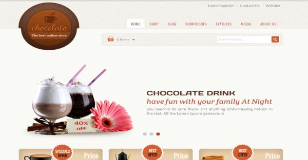 chocolate responsive wordpress theme