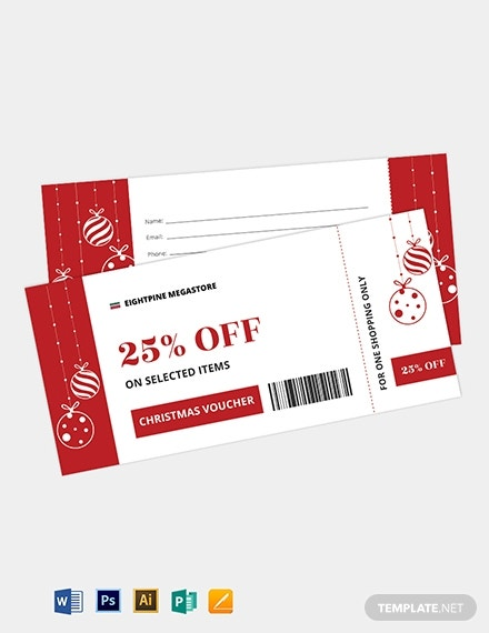 christmas boarding pass ticket voucher template 1