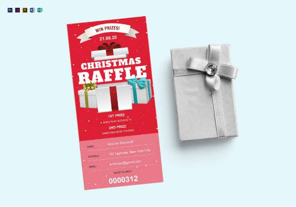 christmas raffle ticket template1