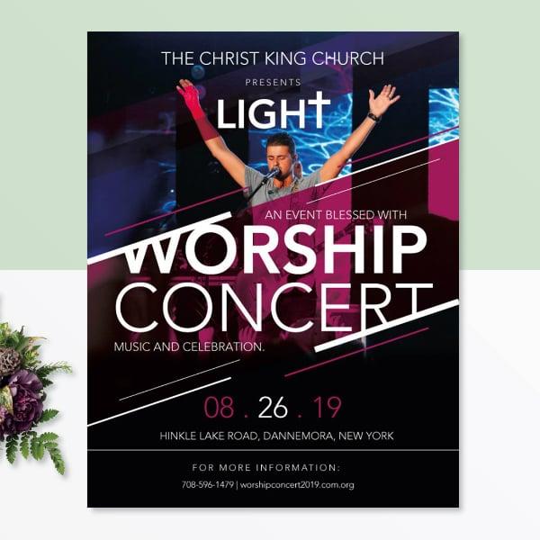 church worship concert flyer example