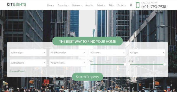 Citylights – Responsive WordPress Theme For Real Estate
