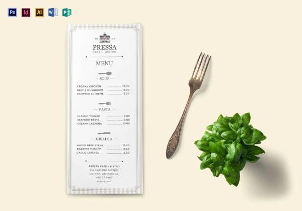 classy food menu template1