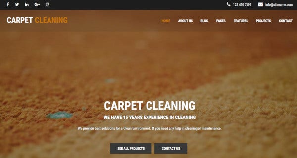 cleaning company – customized wordpress theme