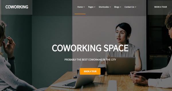 coworking seo optimized wordpress theme