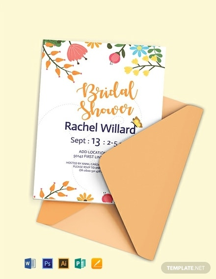 colorful bridal shower invitation template