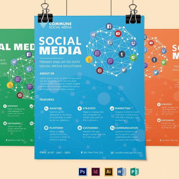 colorful social media flyer format