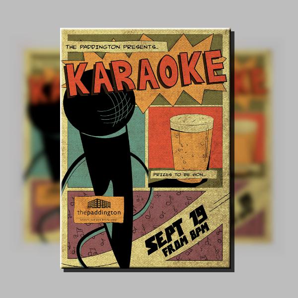 Comics Style Karaoke Poster Layout