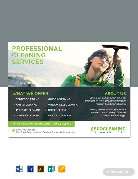 commercial cleaning services flyer sample