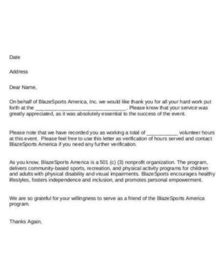Example Letter For Community Service Hours.How To Get A Community Service Letter 5 Templates To