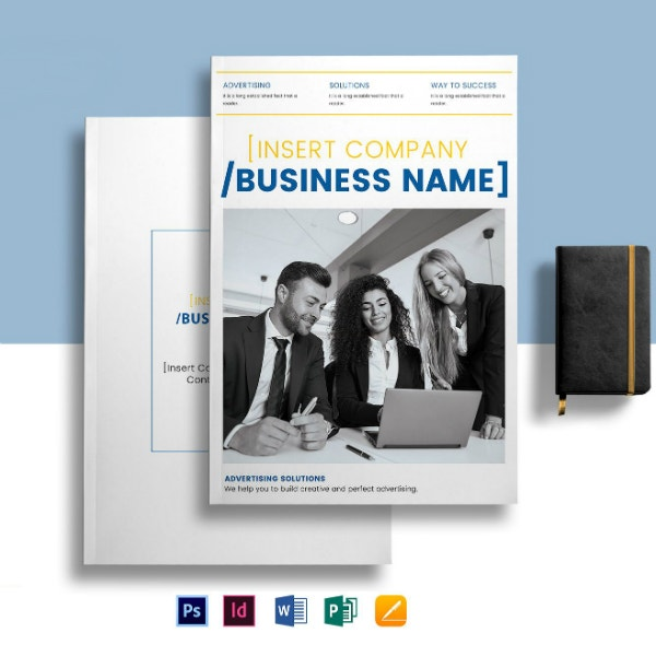 company advertising catalog template