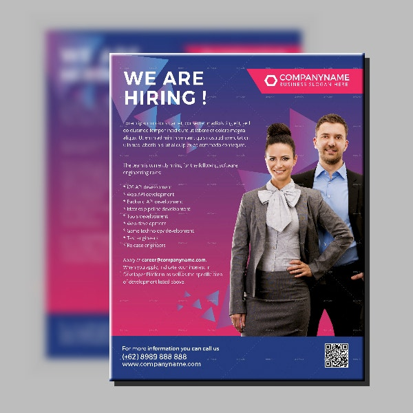Company Recruitment Agency Flyer Template