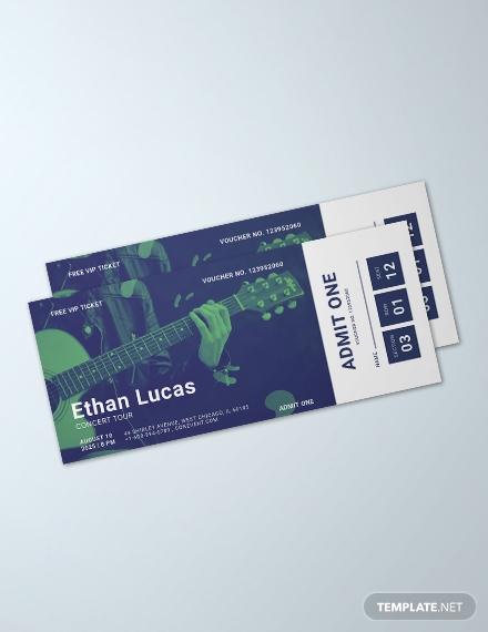 concert ticket voucher template