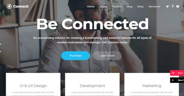 connect best entrepreneur wordpress theme