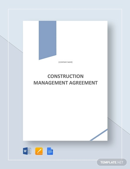 construction management agreement 3