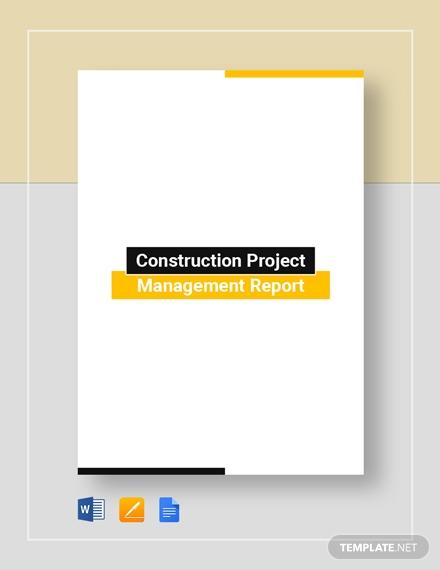 construction project management report
