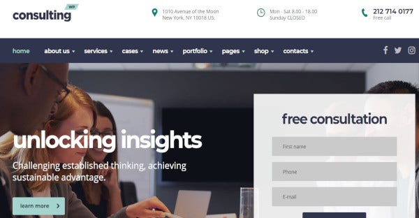 consulting – widget ready wordpress theme