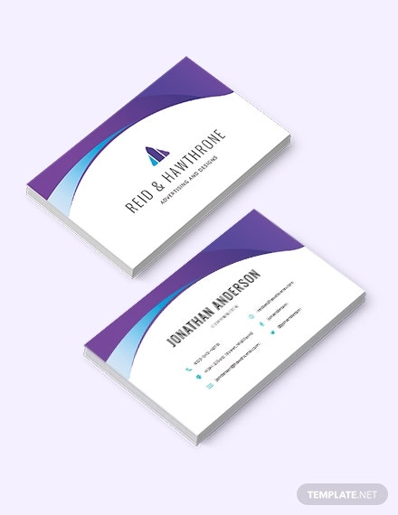 cool corporate business card template