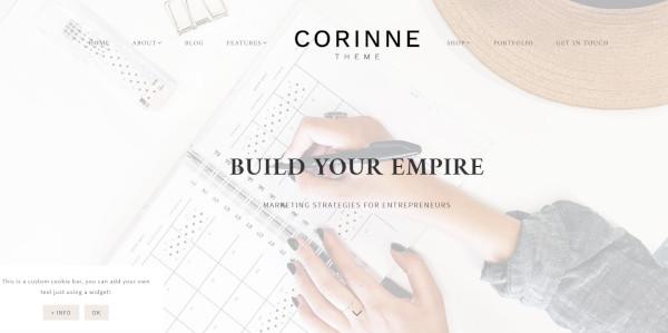 corinne – seo optimized wordpress theme