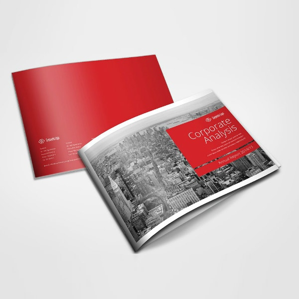 corporate annual report brochure design