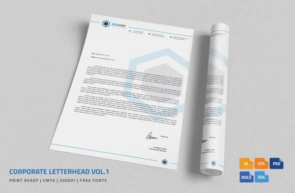 corporate letterhead in ms word