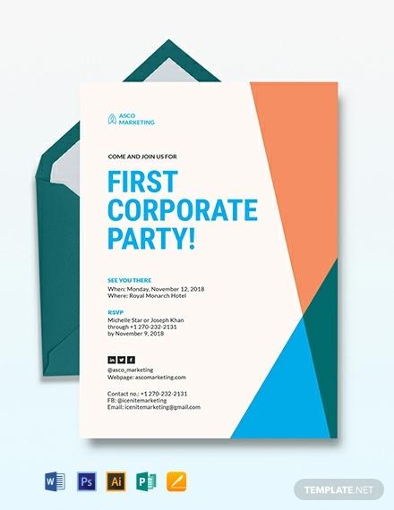 corporate party invitation template 440x570 1