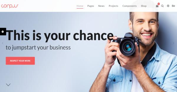 Corpus - Retina Ready WordPress Theme