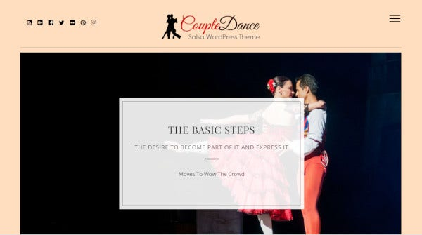 coupledance compatible wordpress theme