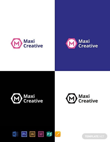 creative agency company logo layout