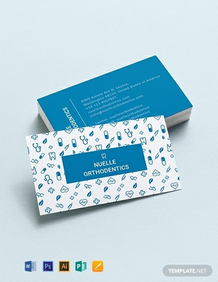 creative dentist business card layout