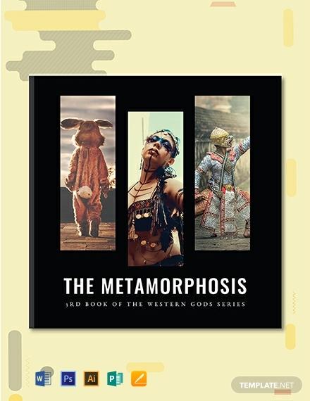 creative fantasy photo book cover template