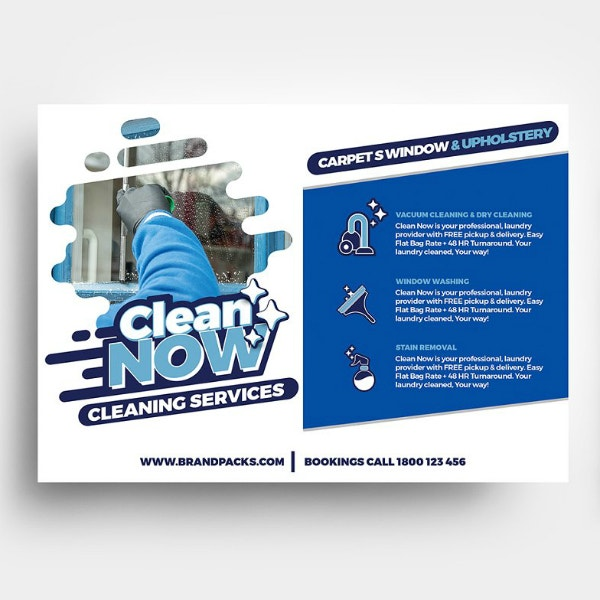 creative horizontal cleaning flyer template