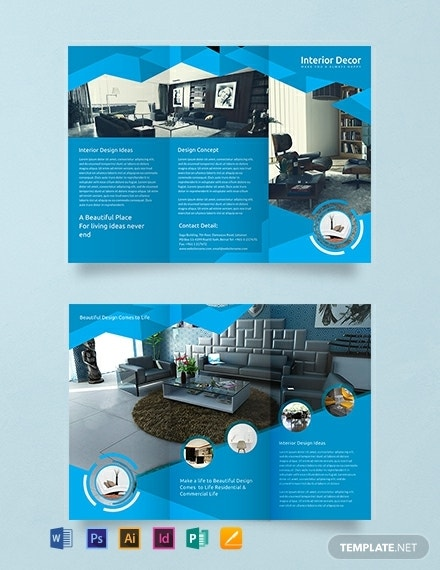 creative interior decor brochure template