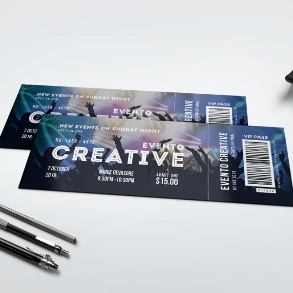 Creative Music Event Ticket Example