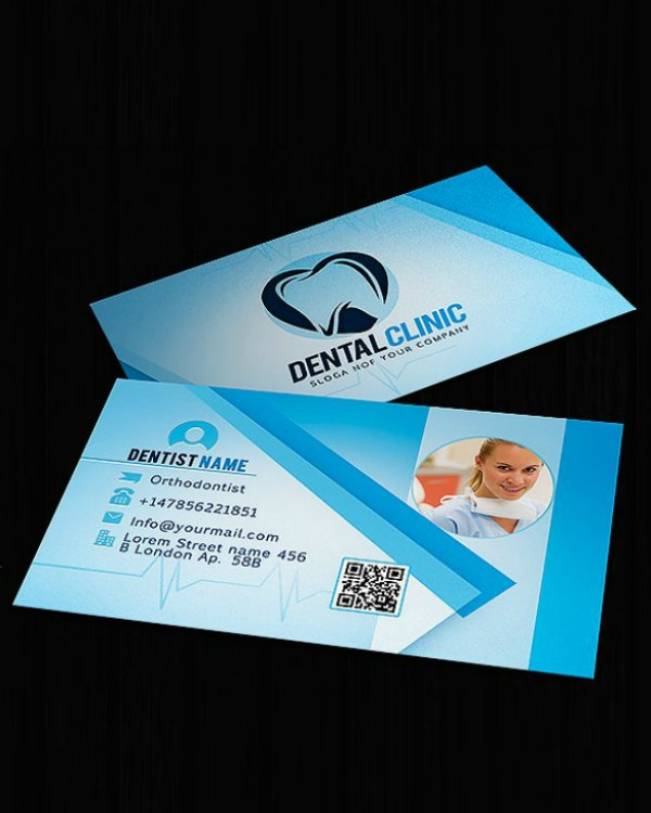 Creative Orthodontist Business Card Example