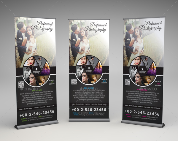 creative photography roll up banner