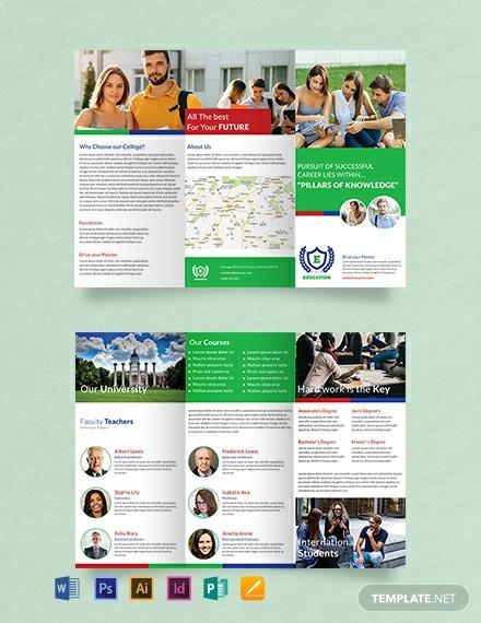 Creative Trifold Education Brochure Format