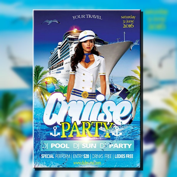 Cruise Party Travels Flyer Template