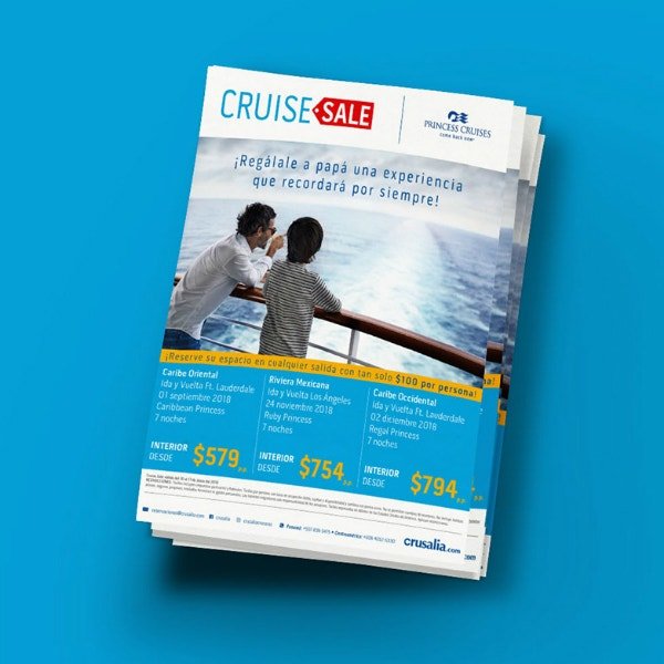 Cruise Travels Sale Flyer Example