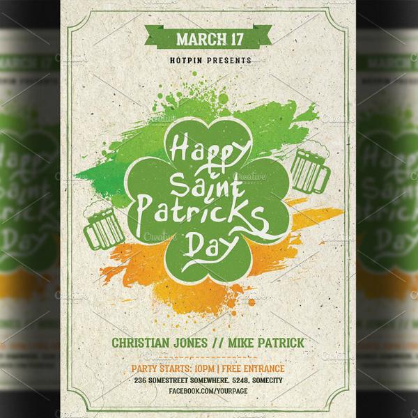custom text saint patricks day flyer