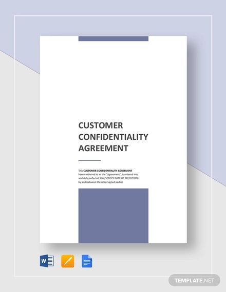 customer confidentiality agreement template