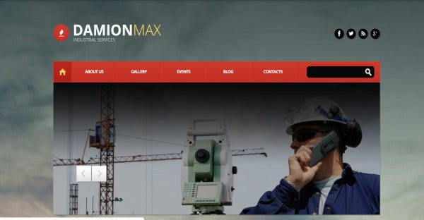 Damion Max - Bootstrap WordPress Theme